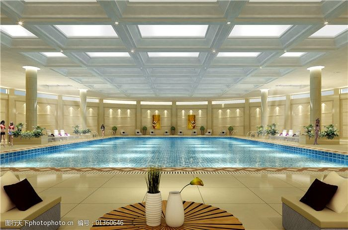 游泳池3D素材信息宝安模具设计v素材模型图片