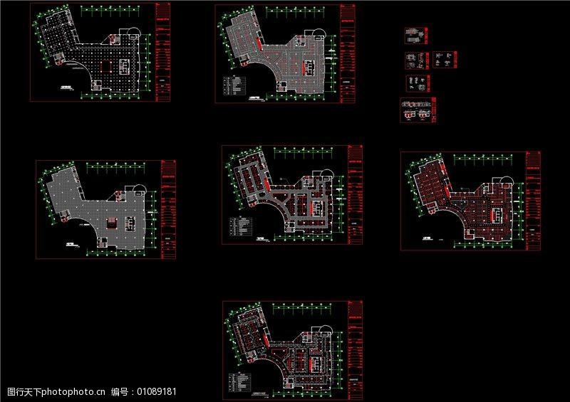 融信大楼3层cad图纸图片-图行天下图库