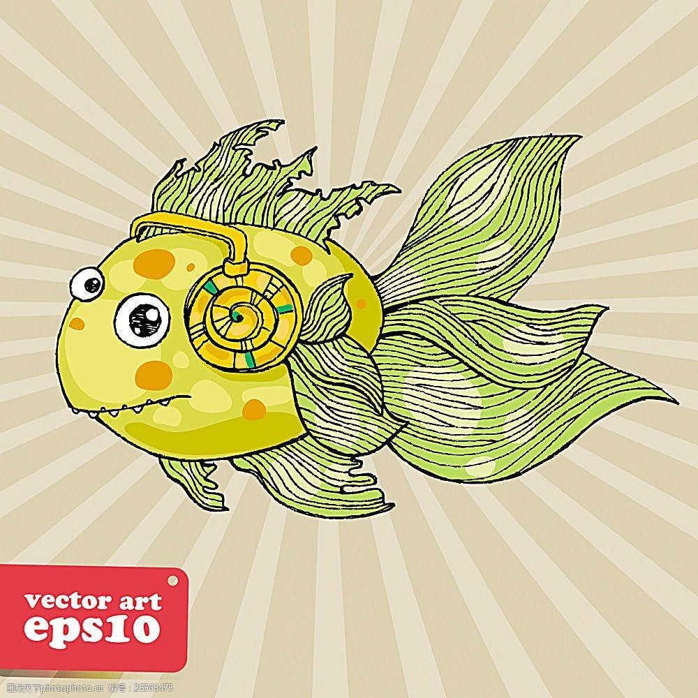 卡通鱼图片 其他 底纹边框 图行天下素材网